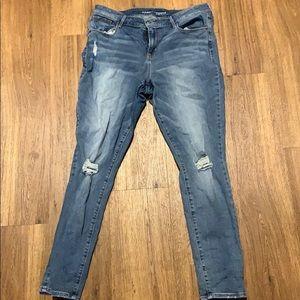 Distressed rockstar old navy skinny jeans